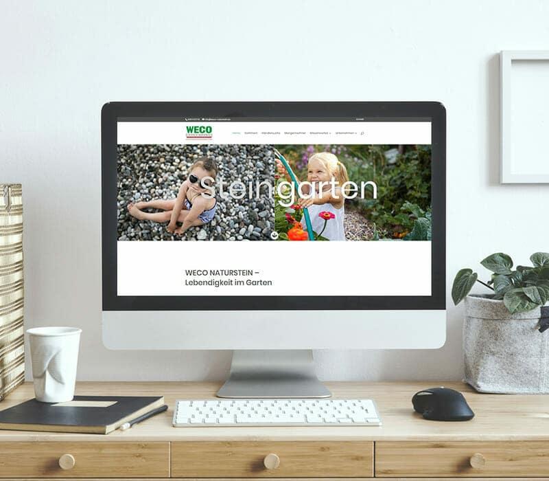 Case Study Webdesign Weco Naturstein