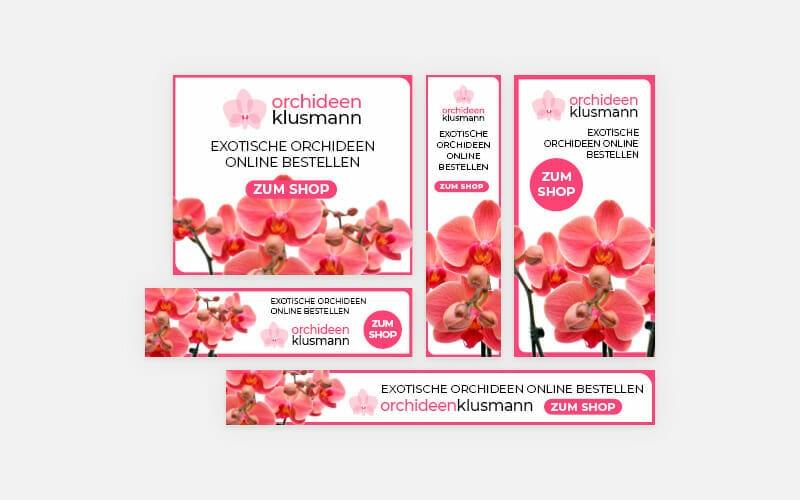 Google Ads Display Anzeigen Orchideen Klusmann