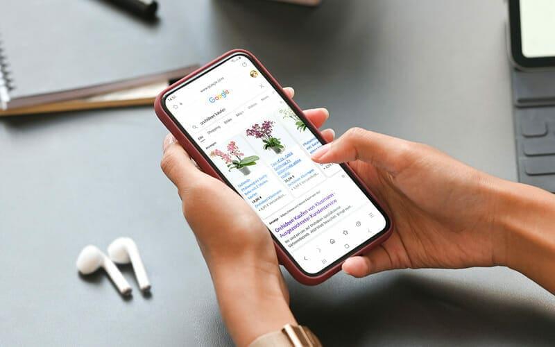 Google Ads Shopping Orchideen Klusmann
