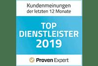 ProvenExpert Zertifizierung Top Dienstleister 2019