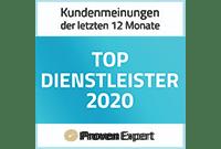 ProvenExpert Zertifizierung Top Dienstleister 2020