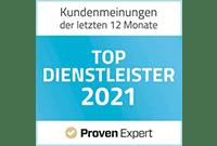ProvenExpert Zertifizierung Top Dienstleister 2021