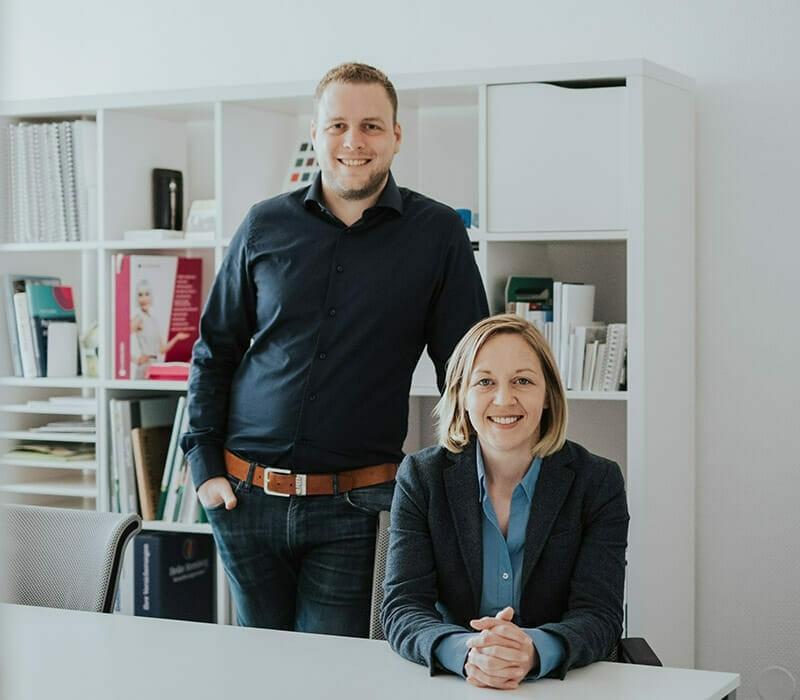 Lina und Sascha der Werbeagentur Christmann & Woll in Cloppenburg